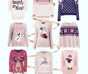 christmas, sweaters, and christmas sweaters image