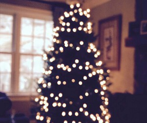 christmas, house, and tree image