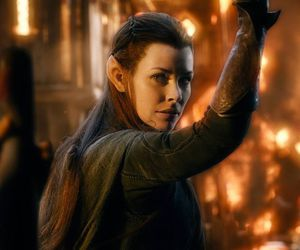 tauriel, fire, and the hobbit image