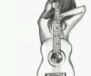 draw, guitar, and girl image