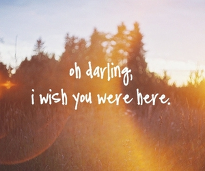 love, darling, and quote image