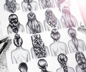 amazing, draw, and hair image