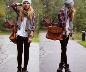 ankle boots, beanie, and boots image