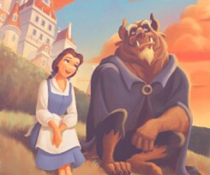 disney, beauty and the beast, and disney princess image