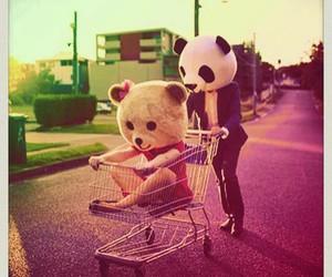 love, bear, and panda image