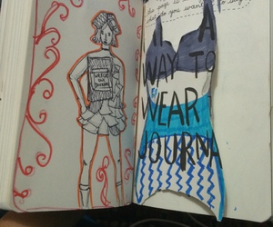 book, clothes, and draw image