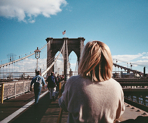 girl, bridge, and photography image