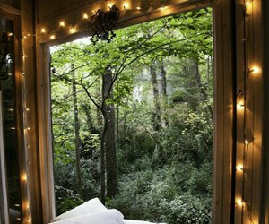 bed, cute, and forest image