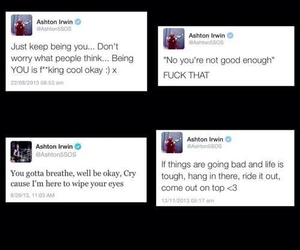 quotes, 5sos, and tweets image
