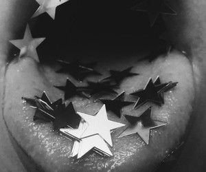 grunge, mouth, and stars image