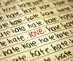 love and hate image