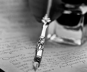 pen, black and white, and antique image