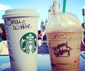 starbucks, disney, and coffee image