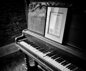 piano, black and white, and vintage image