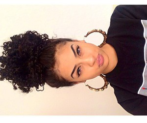 black and curls image