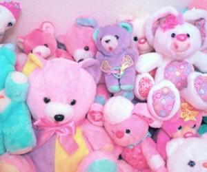 bear, pink, and pastel image