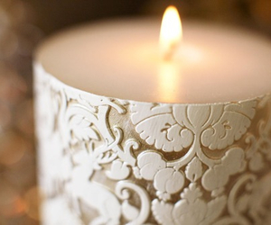 candle, light, and white image