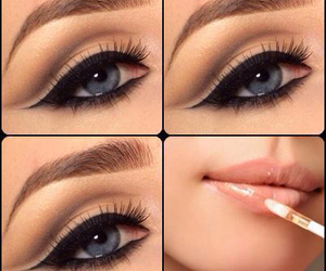 make up, makeup, and eyes image