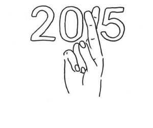 good luck, pray, and 2015 image