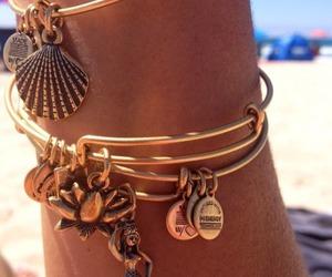bracelet, summer, and beach image