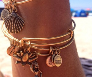bracelet, summer, and beach image