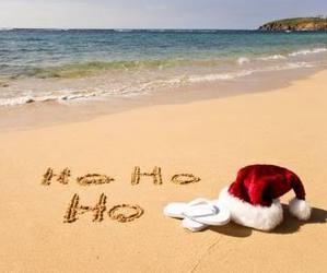 christmas, beach, and holiday image