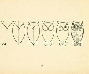 art, owl drawing, and disegni image