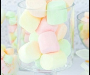 green, marshmellows, and pastel image