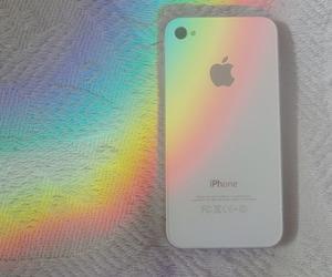 iphone, rainbow, and white image
