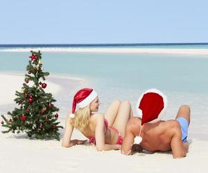 beach, beautiful, and christmas image