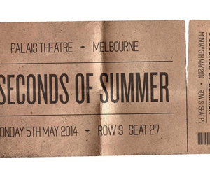 5 seconds of summer, 5sos, and ticket image