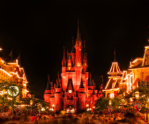 disney, lights, and castle image