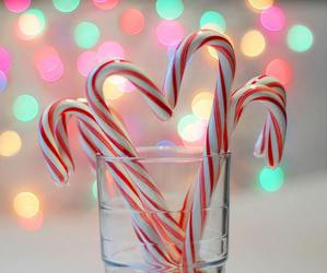 christmas, lights, and candy image