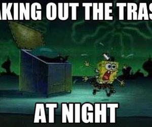 night, trash, and funny image
