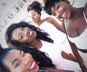 friends and black girls image