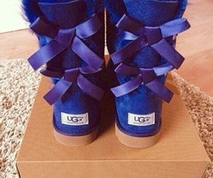 blue, shoes, and uggs image