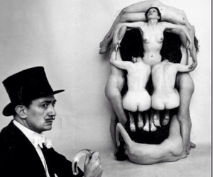 salvador dali, skull, and dali image