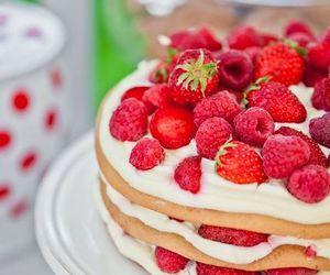 cake, berries, and cupcake image