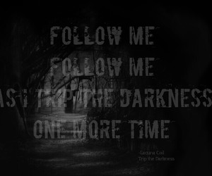 Darkness, Lyrics, and Lacuna Coil image