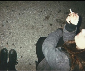 grunge, girl, and cigarette image
