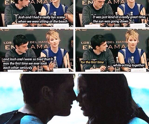 Jennifer Lawrence, josh hutcherson, and the hunger games image