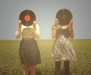 girl, record, and music image