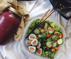 sushi, food, and fruit image