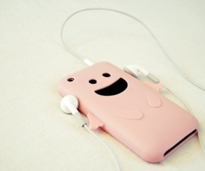pink, iphone, and music image