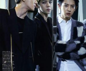 exo, chan yeol, and sehun image