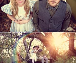 alice in wonderland, couple, and wedding image
