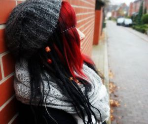 alt girl, dreads, and dyed hair image