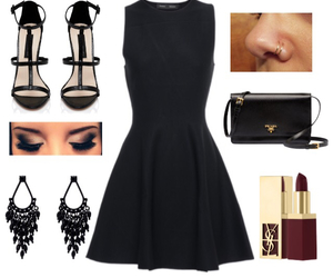 black, dress, and lbd image