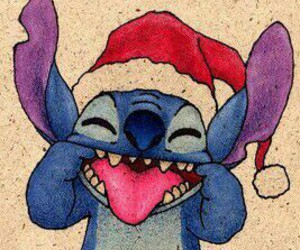 stitch, christmas, and disney image