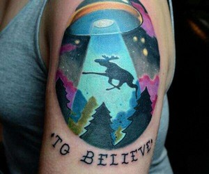alien, I want to believe, and shoulder tattoo image